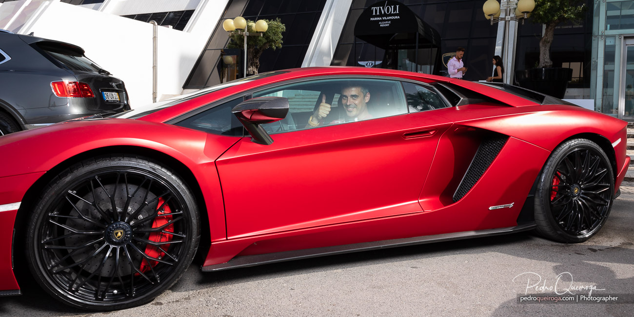 Visitor doing a Lamborghini Aventador test-drive